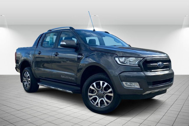 Used Ford Ranger PX MkII 2018.00MY Wildtrak Double Cab Maryborough, 2018 Ford Ranger PX MkII 2018.00MY Wildtrak Double Cab Grey 6 Speed Sports Automatic Utility