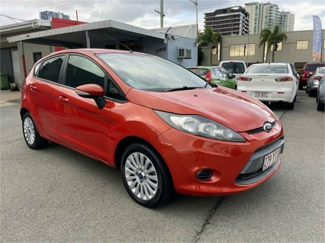 Used Ford Fiesta WT CL Southport, 2012 Ford Fiesta WT CL Orange 6 Speed Automatic Hatchback