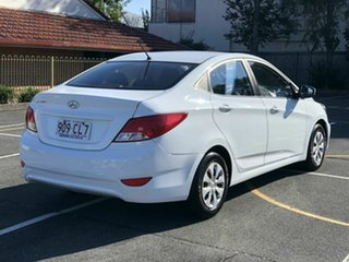 2016 Hyundai Accent RB4 MY17 Active White 6 Speed Manual Sedan.
