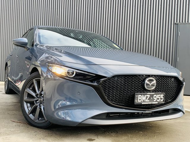 Demo Mazda 3 BP2H7A G20 SKYACTIV-Drive Touring Mornington, 2021 Mazda 3 BP2H7A G20 SKYACTIV-Drive Touring Polymetal Grey 6 Speed Sports Automatic Hatchback