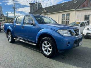 2010 Nissan Navara D40 ST-X (4x4) Blue 5 SP AUTOMATIC Dual Cab Pick-up.
