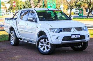 2013 Mitsubishi Triton MN MY13 GLX-R Double Cab White 5 Speed Manual Utility.