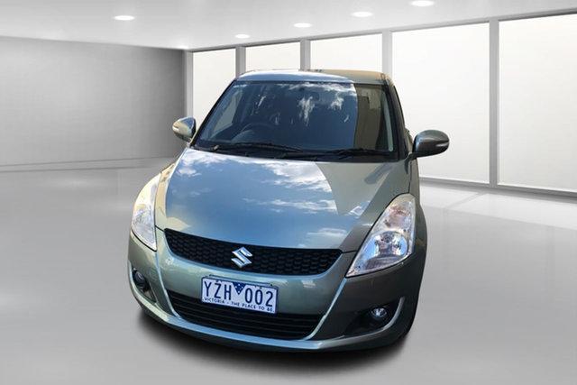 Used Suzuki Swift FZ GLX West Footscray, 2011 Suzuki Swift FZ GLX Green 4 Speed Automatic Hatchback