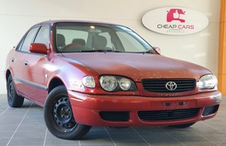 2000 Toyota Corolla AE112R Conquest Red 4 Speed Automatic Sedan.