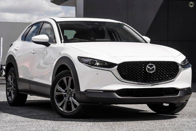 New Mazda CX-30 DM4WLA X20 SKYACTIV-Drive i-ACTIV AWD Astina Waitara, 2021 Mazda CX-30 DM4WLA X20 SKYACTIV-Drive i-ACTIV AWD Astina White 6 Speed Sports Automatic Wagon