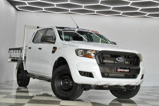 Used Ford Ranger PX MkII MY18 XL 3.2 (4x4) Burleigh Heads, 2017 Ford Ranger PX MkII MY18 XL 3.2 (4x4) White 6 Speed Automatic Crew Cab Chassis