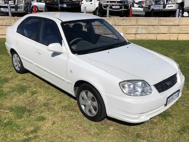 Used Hyundai Accent LC MY04 GL Wangara, 2005 Hyundai Accent LC MY04 GL White 4 Speed Automatic Hatchback