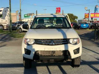 2013 Mitsubishi Triton MN GLX White 4 Speed Sports Automatic Cab Chassis.