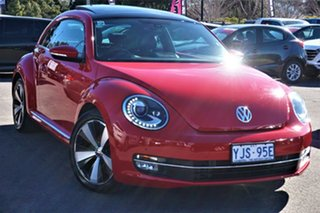 2013 Volkswagen Beetle 1L MY13 Coupe DSG Tornado Red 7 Speed Sports Automatic Dual Clutch Liftback.