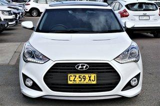 2014 Hyundai Veloster FS3 SR Coupe Turbo White 6 Speed Sports Automatic Hatchback.
