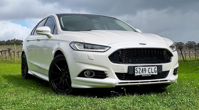 Used Ford Mondeo MD Titanium Nuriootpa, 2016 Ford Mondeo MD Titanium White 6 Speed Sports Automatic Dual Clutch Hatchback