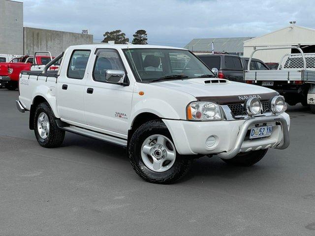 Used Nissan Navara D22 S5 ST-R Moonah, 2012 Nissan Navara D22 S5 ST-R White 5 Speed Manual Utility