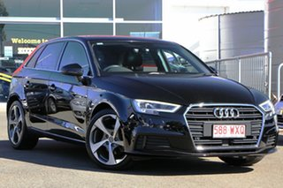 2016 Audi A3 8V MY16 Attraction Sportback S Tronic Black 7 Speed Sports Automatic Dual Clutch.