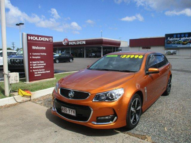 Used Holden Commodore VF II MY17 SV6 Sportwagon North Rockhampton, 2017 Holden Commodore VF II MY17 SV6 Sportwagon Orange 6 Speed Sports Automatic Wagon
