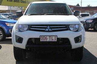 2013 Mitsubishi Triton MN MY14 GLX Double Cab White 4 Speed Sports Automatic Utility.