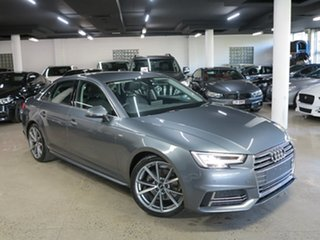 2018 Audi A4 B9 8W MY18 S Line S Tronic Grey 7 Speed Sports Automatic Dual Clutch Sedan.