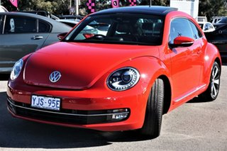 2013 Volkswagen Beetle 1L MY13 Coupe DSG Tornado Red 7 Speed Sports Automatic Dual Clutch Liftback