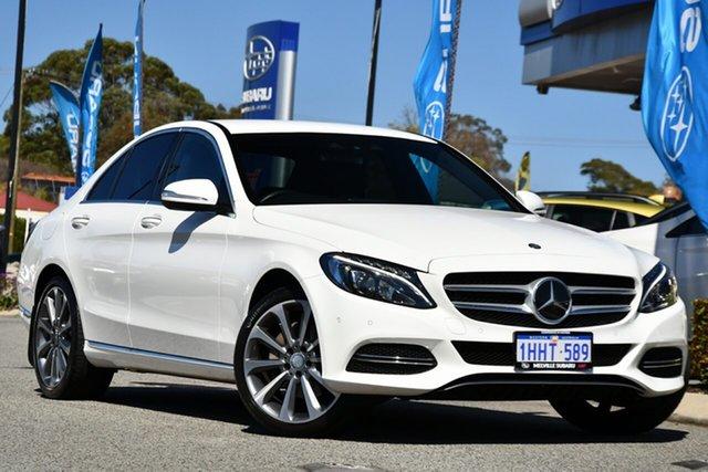 Used Mercedes-Benz C-Class W205 C250 BlueTEC 7G-Tronic + Melville, 2015 Mercedes-Benz C-Class W205 C250 BlueTEC 7G-Tronic + White 7 Speed Sports Automatic Sedan