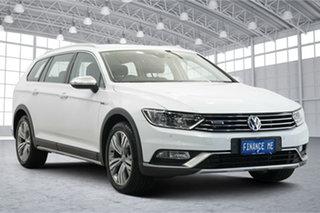 2017 Volkswagen Passat 3C (B8) MY18 140TDI DSG 4MOTION Alltrack White 6 Speed.