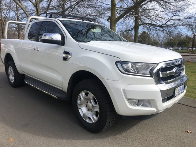 Used Ford Ranger PX MkII XLT Super Cab 4x2 Hi-Rider Devonport, 2016 Ford Ranger PX MkII XLT Super Cab 4x2 Hi-Rider White 6 Speed Sports Automatic Utility