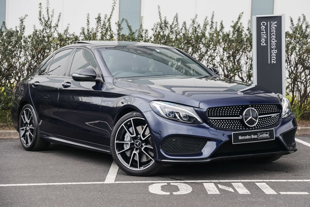 Certified Pre-Owned Mercedes-Benz C-Class W205 808MY C43 AMG 9G-Tronic 4MATIC Mulgrave, 2018 Mercedes-Benz C-Class W205 808MY C43 AMG 9G-Tronic 4MATIC Cavansite Blue 9 Speed