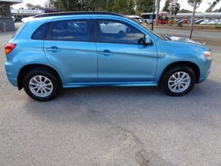2012 Mitsubishi ASX XB MY13 2WD Kingfisher Blue 6 Speed Constant Variable Wagon.