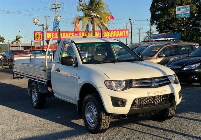 Used Mitsubishi Triton GLX Archerfield, 2013 Mitsubishi Triton MN GLX White 4 Speed Sports Automatic Cab Chassis