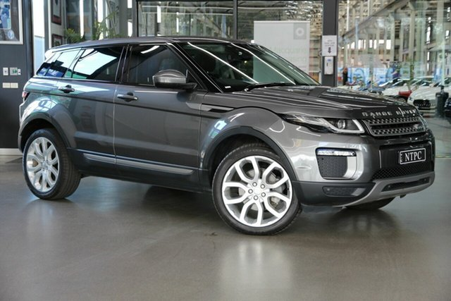 Used Land Rover Range Rover Evoque L538 MY16.5 TD4 150 SE North Melbourne, 2016 Land Rover Range Rover Evoque L538 MY16.5 TD4 150 SE Grey 9 Speed Sports Automatic Wagon