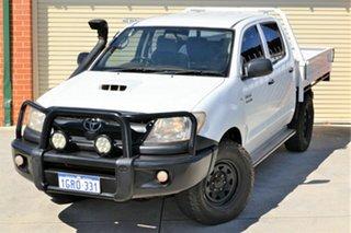 2011 Toyota Hilux KUN26R MY10 SR White 4 Speed Automatic Utility.