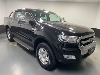 2016 Ford Ranger PX MkII XLT Double Cab Black Mica 6 Speed Sports Automatic Utility.