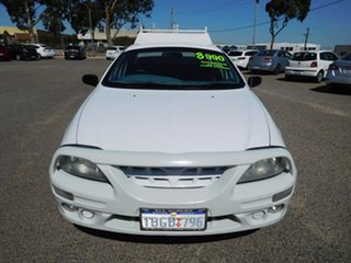2002 Ford Falcon AU II XL Super Cab White 4 Speed Automatic Cab Chassis.