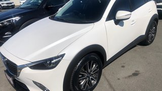 2016 Mazda CX-3 DK4W7A sTouring SKYACTIV-Drive i-ACTIV AWD Pearl White 6 Speed Sports Automatic.
