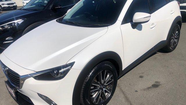Used Mazda CX-3 DK4W7A sTouring SKYACTIV-Drive i-ACTIV AWD Moorooka, 2016 Mazda CX-3 DK4W7A sTouring SKYACTIV-Drive i-ACTIV AWD Pearl White 6 Speed Sports Automatic