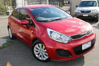 2012 Kia Rio UB MY12 S Red 4 Speed Sports Automatic Hatchback.