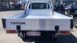 2018 Mitsubishi Triton MQ MY18 GLX 4x2 White 5 Speed Manual Cab Chassis