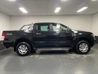 2016 Ford Ranger PX MkII XLT Double Cab Black Mica 6 Speed Sports Automatic Utility