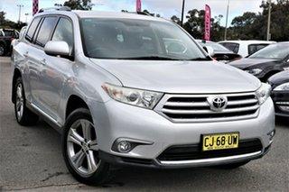 2012 Toyota Kluger GSU45R MY12 KX-S AWD Silver 5 Speed Sports Automatic Wagon.