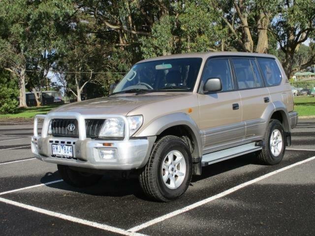Used Toyota Landcruiser Prado GXL Timboon, 2002 Toyota Landcruiser Prado KZJ95R Turbo GXL Beige Automatic Wagon