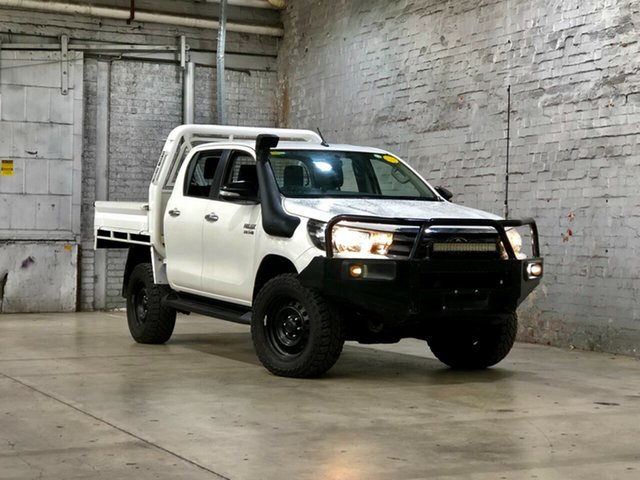 Used Toyota Hilux GUN126R SR Double Cab Mile End South, 2017 Toyota Hilux GUN126R SR Double Cab White 6 Speed Sports Automatic Utility