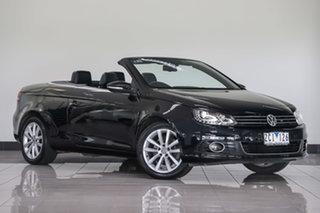 2011 Volkswagen EOS 1F MY11 103TDI DSG Black 6 Speed Sports Automatic Dual Clutch Convertible.