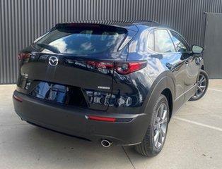 2021 Mazda CX-30 DM4WLA G25 SKYACTIV-Drive i-ACTIV AWD Astina Jet Black 6 Speed Sports Automatic