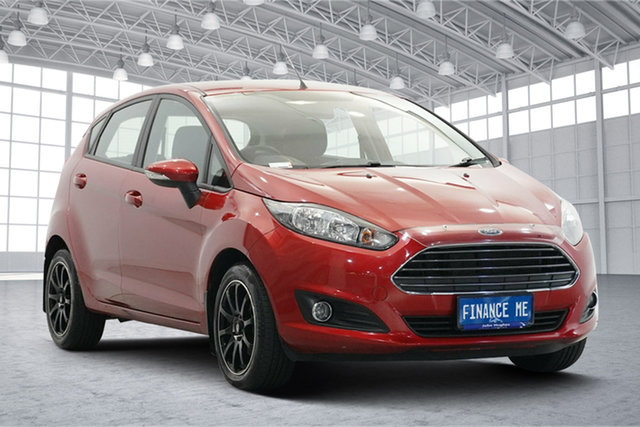 Used Ford Fiesta WZ Ambiente Victoria Park, 2016 Ford Fiesta WZ Ambiente Red 5 Speed Manual Hatchback