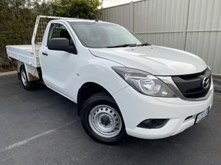 2016 Mazda BT-50 UR0YD1 XT 4x2 White 6 Speed Manual Cab Chassis.