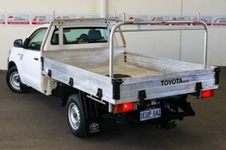 2013 Toyota Hilux KUN16R MY12 Workmate 4x2 Glacier White 5 Speed Manual Cab Chassis.