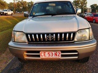 1999 Toyota Landcruiser Prado VZJ95R VX Grande White 4 Speed Automatic Wagon.