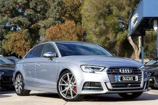 2017 Audi S3 8V MY17 S Tronic Quattro Silver 7 Speed Sports Automatic Dual Clutch Sedan.
