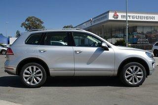2017 Volkswagen Touareg 7P MY18 V6 TDI Tiptronic 4MOTION Silver 8 Speed Sports Automatic Wagon.