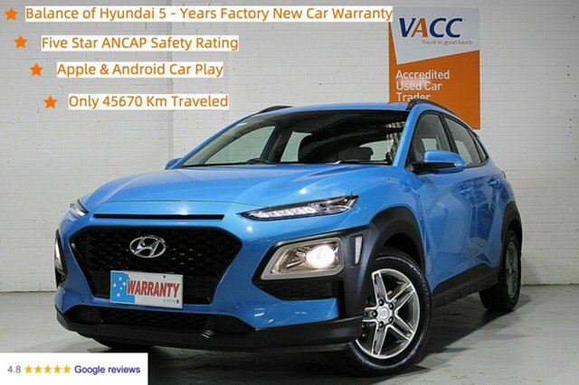 Used Hyundai Kona OS.2 MY19 Active 2WD Moorabbin, 2018 Hyundai Kona OS.2 MY19 Active 2WD Blue 6 Speed Sports Automatic Wagon