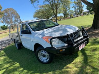 2012 Mazda BT-50 UP0YD1 XT 4x2 Cool White 6 Speed Manual Cab Chassis.
