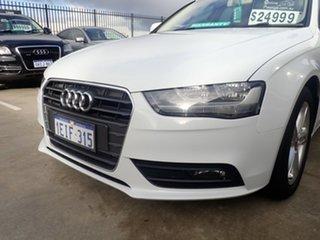 2012 Audi A4 B8 (8K) MY13 1.8 TFSI White Diamond CVT Multitronic Sedan.